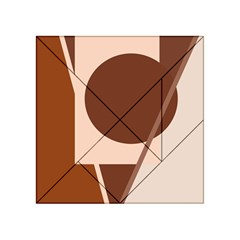 Brown geometric design Acrylic Tangram Puzzle (4  x 4 )