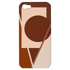Brown geometric design Apple iPhone 5 Hardshell Case