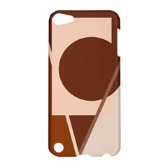 Brown geometric design Apple iPod Touch 5 Hardshell Case