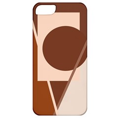 Brown geometric design Apple iPhone 5 Classic Hardshell Case