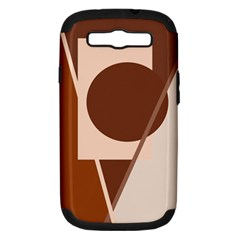 Brown geometric design Samsung Galaxy S III Hardshell Case (PC+Silicone)