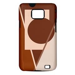 Brown geometric design Samsung Galaxy S II i9100 Hardshell Case (PC+Silicone)