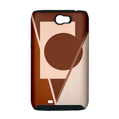 Brown geometric design Samsung Galaxy Note 2 Hardshell Case (PC+Silicone)