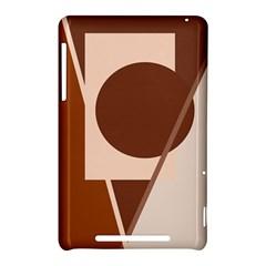 Brown geometric design Nexus 7 (2012)