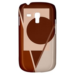 Brown geometric design Samsung Galaxy S3 MINI I8190 Hardshell Case