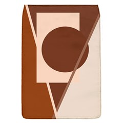 Brown geometric design Flap Covers (S)