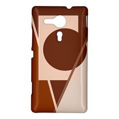 Brown geometric design Sony Xperia SP
