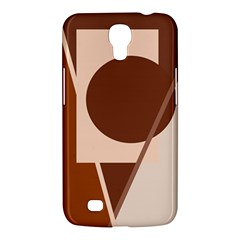 Brown geometric design Samsung Galaxy Mega 6.3  I9200 Hardshell Case