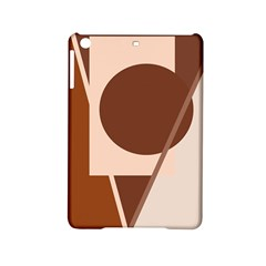 Brown geometric design iPad Mini 2 Hardshell Cases