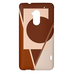 Brown geometric design HTC One Max (T6) Hardshell Case