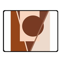 Brown geometric design Double Sided Fleece Blanket (Small)