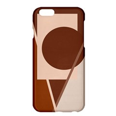 Brown geometric design Apple iPhone 6 Plus/6S Plus Hardshell Case