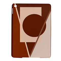 Brown geometric design iPad Air 2 Hardshell Cases
