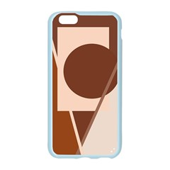 Brown geometric design Apple Seamless iPhone 6/6S Case (Color)