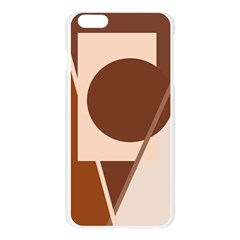 Brown geometric design Apple Seamless iPhone 6 Plus/6S Plus Case (Transparent)