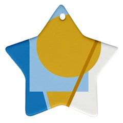 Blue and yellow abstract design Ornament (Star)