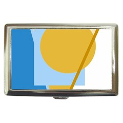 Blue and yellow abstract design Cigarette Money Cases