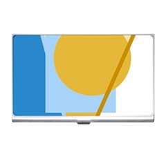 Blue and yellow abstract design Business Card Holders