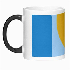 Blue and yellow abstract design Morph Mugs