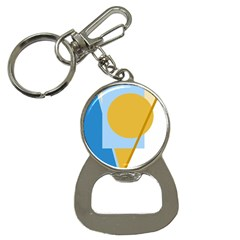 Blue and yellow abstract design Bottle Opener Key Chains