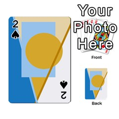 Blue and yellow abstract design Playing Cards 54 Designs