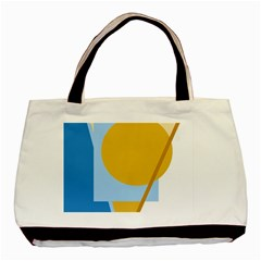 Blue and yellow abstract design Basic Tote Bag