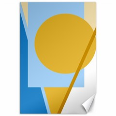 Blue and yellow abstract design Canvas 12  x 18
