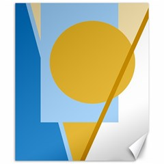 Blue and yellow abstract design Canvas 20  x 24