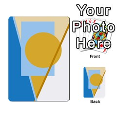 Blue and yellow abstract design Multi-purpose Cards (Rectangle)
