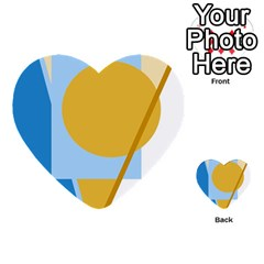 Blue and yellow abstract design Multi-purpose Cards (Heart)