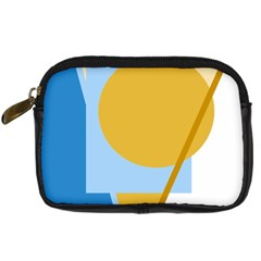 Blue and yellow abstract design Digital Camera Cases