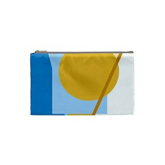 Blue and yellow abstract design Cosmetic Bag (Small)