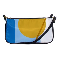 Blue and yellow abstract design Shoulder Clutch Bags