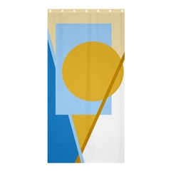 Blue and yellow abstract design Shower Curtain 36  x 72  (Stall)