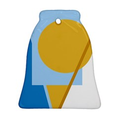Blue and yellow abstract design Bell Ornament (2 Sides)