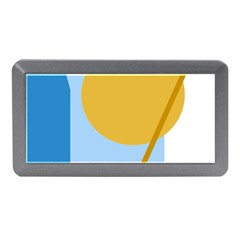 Blue and yellow abstract design Memory Card Reader (Mini)