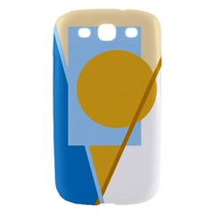 Blue and yellow abstract design Samsung Galaxy S III Hardshell Case
