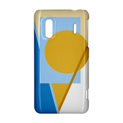 Blue and yellow abstract design HTC Evo Design 4G/ Hero S Hardshell Case