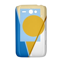 Blue and yellow abstract design HTC ChaCha / HTC Status Hardshell Case