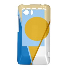 Blue and yellow abstract design HTC Vivid / Raider 4G Hardshell Case