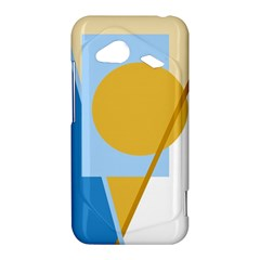 Blue and yellow abstract design HTC Droid Incredible 4G LTE Hardshell Case