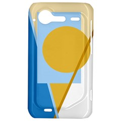 Blue and yellow abstract design HTC Incredible S Hardshell Case