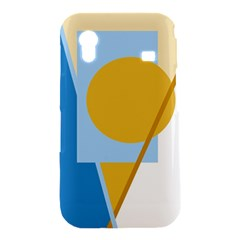 Blue and yellow abstract design Samsung Galaxy Ace S5830 Hardshell Case