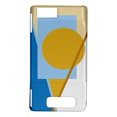 Blue and yellow abstract design Motorola DROID X2