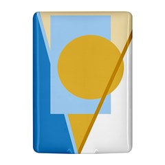 Blue and yellow abstract design Kindle 4