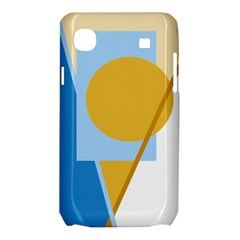 Blue and yellow abstract design Samsung Galaxy SL i9003 Hardshell Case