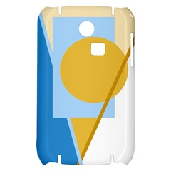 Blue and yellow abstract design Samsung S3350 Hardshell Case