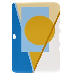 Blue and yellow abstract design Samsung Galaxy Tab 8.9  P7300 Hardshell Case