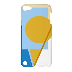 Blue and yellow abstract design Apple iPod Touch 5 Hardshell Case