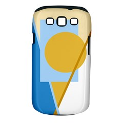 Blue and yellow abstract design Samsung Galaxy S III Classic Hardshell Case (PC+Silicone)